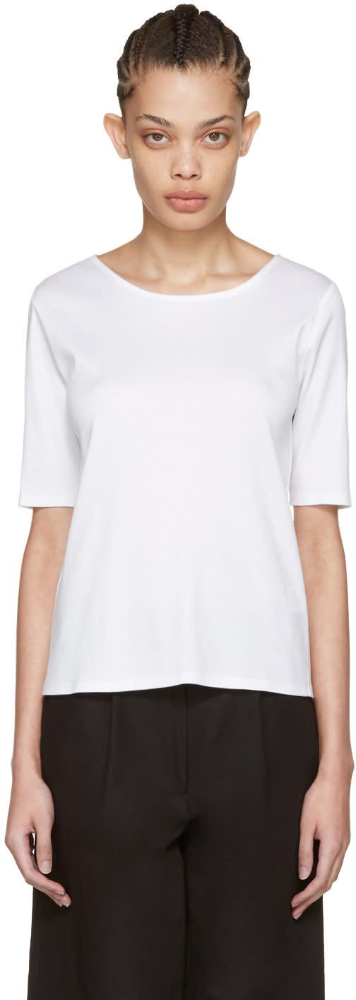 Moderne White Fine Rib T-shirt
