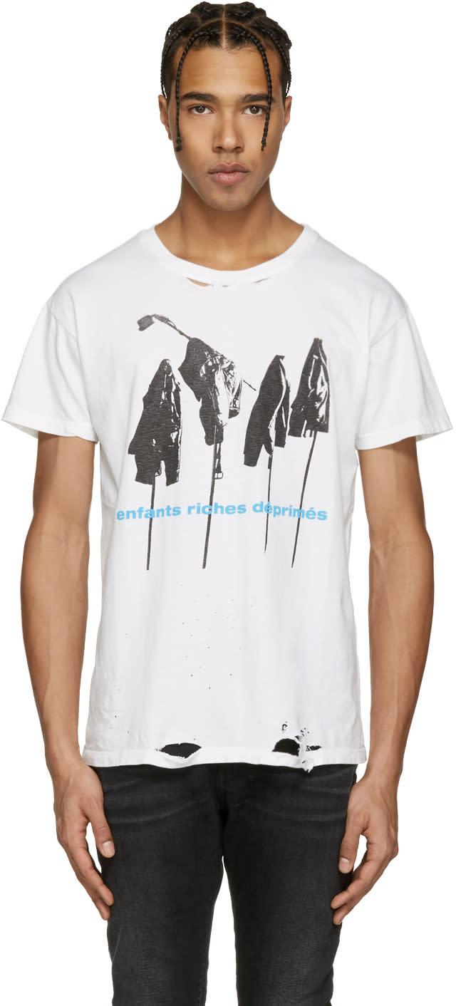 Enfants Riches Deprimes White Repetition T-shirt