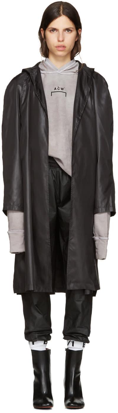 Image of A-cold-wall* Black Nylon Raincoat