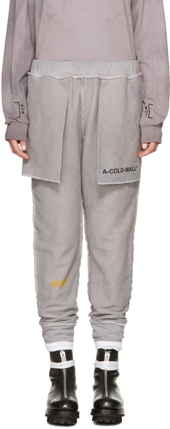 A-cold-wall* Reversible Grey the Meeting Of Textures Seamline Lounge Pants