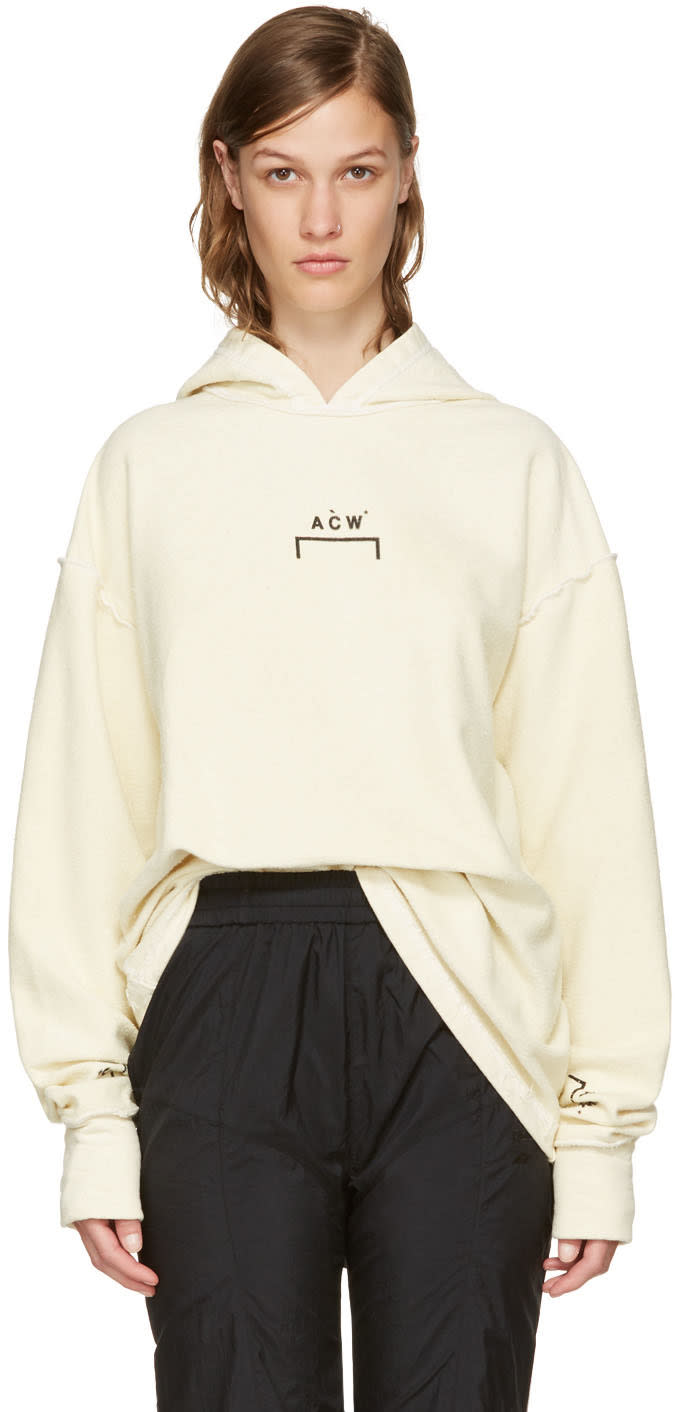 A-cold-wall* Reversible Tan Oversized Logo Hoodie