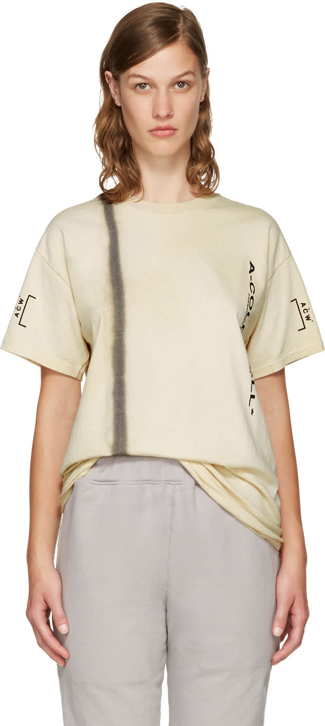 A-cold-wall* Beige Signature T-shirt