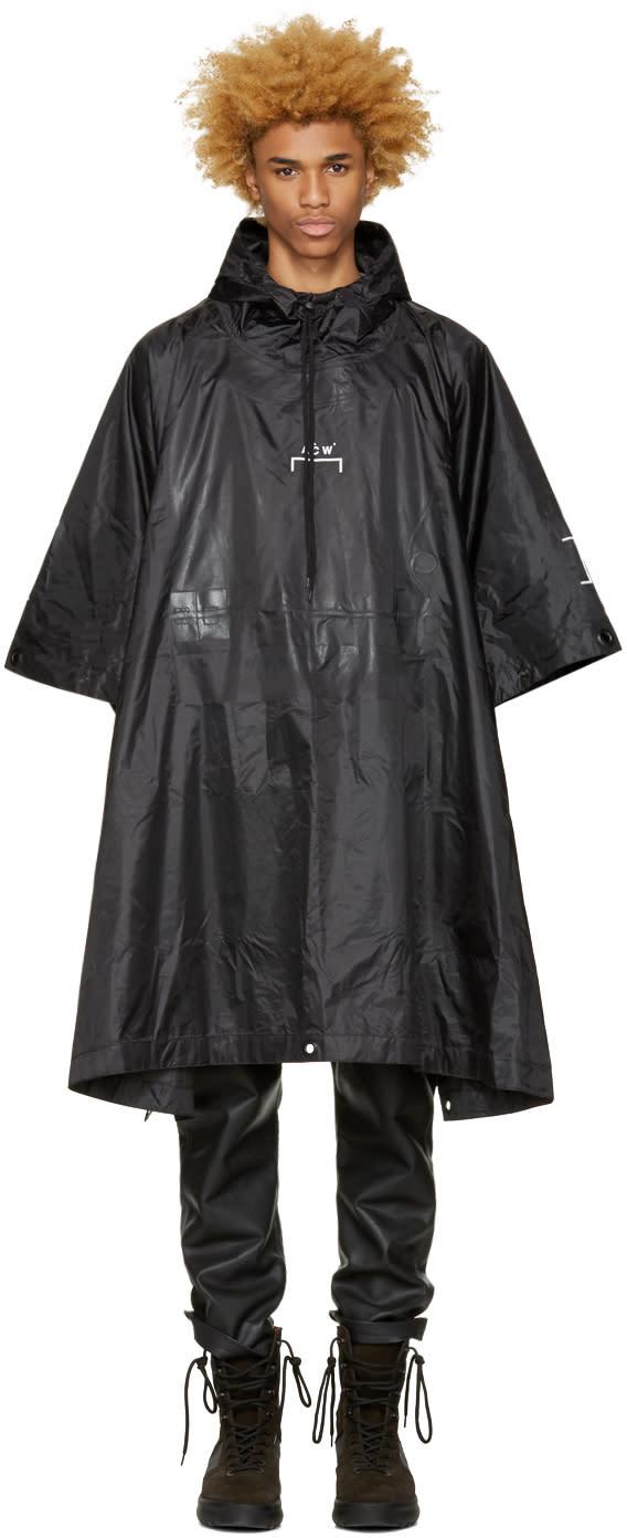 A-cold-wall* Black Nylon Poncho