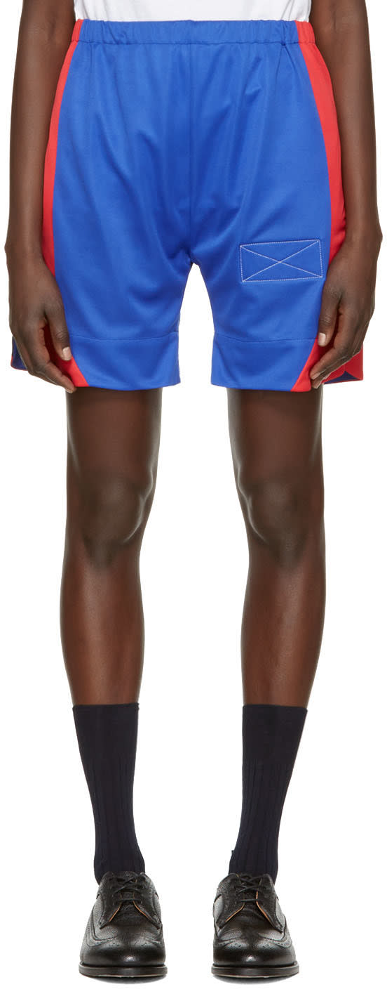 Image of Martine Rose Blue Long Sport Shorts