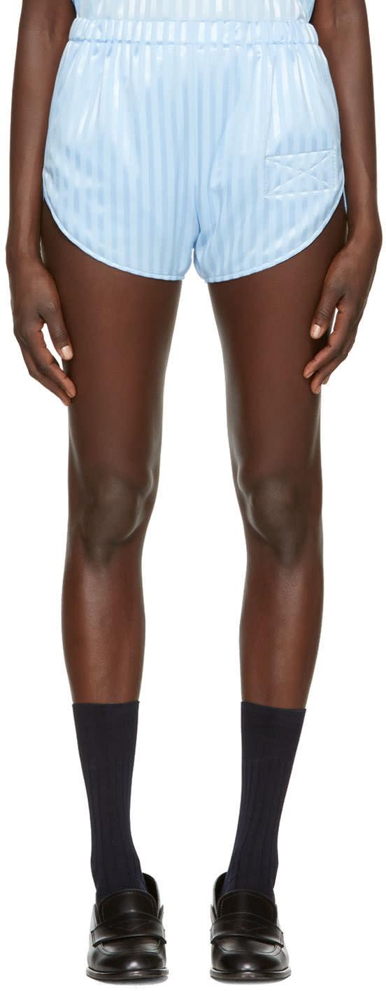 Martine Rose Blue Running Shorts