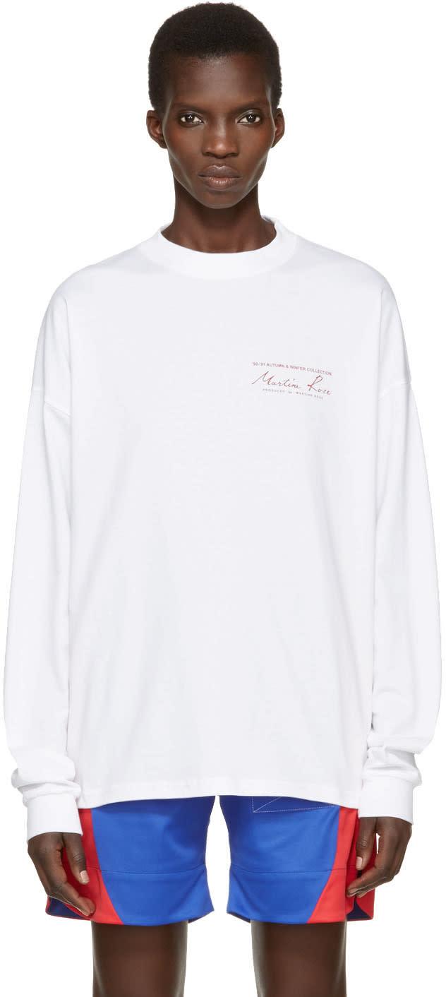 Martine Rose White Logo T-shirt