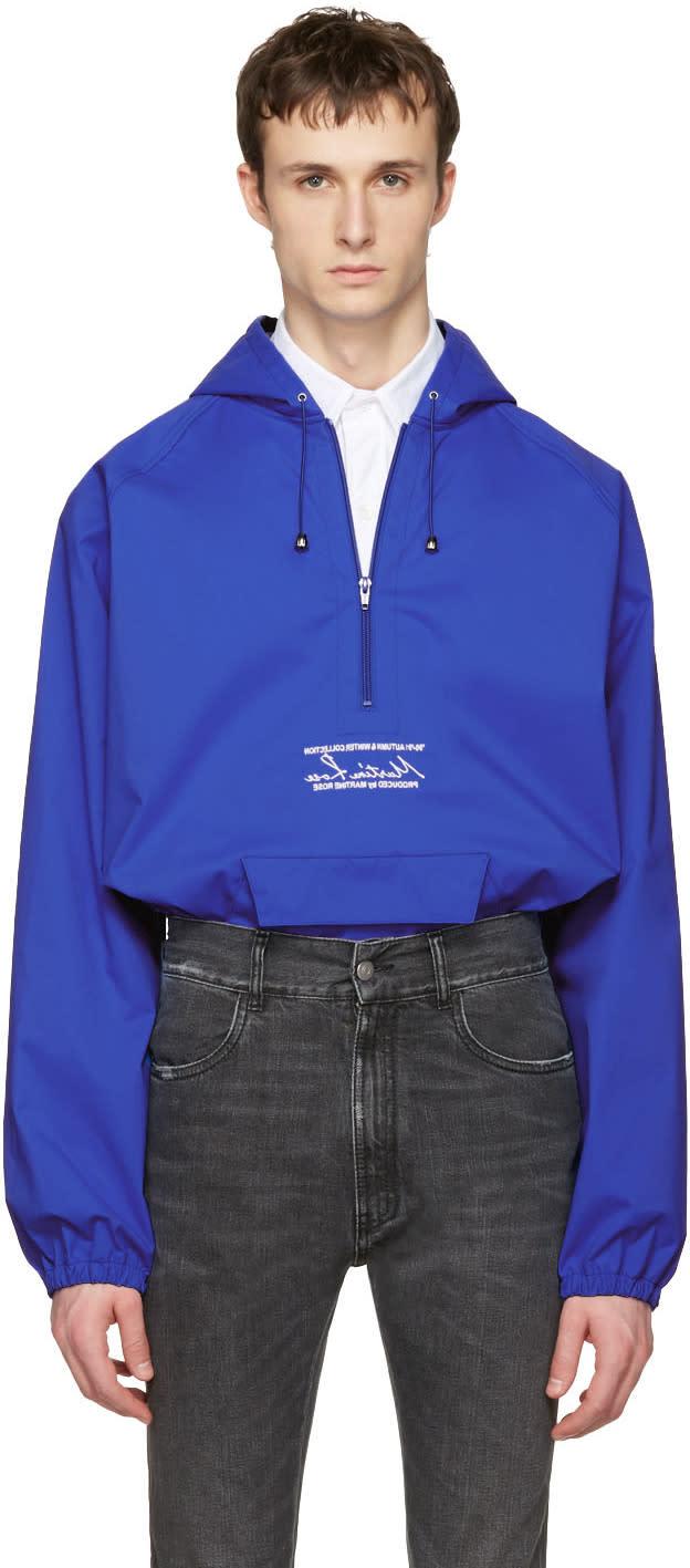 Martine Rose Blue Windcheater Hooded Jacket