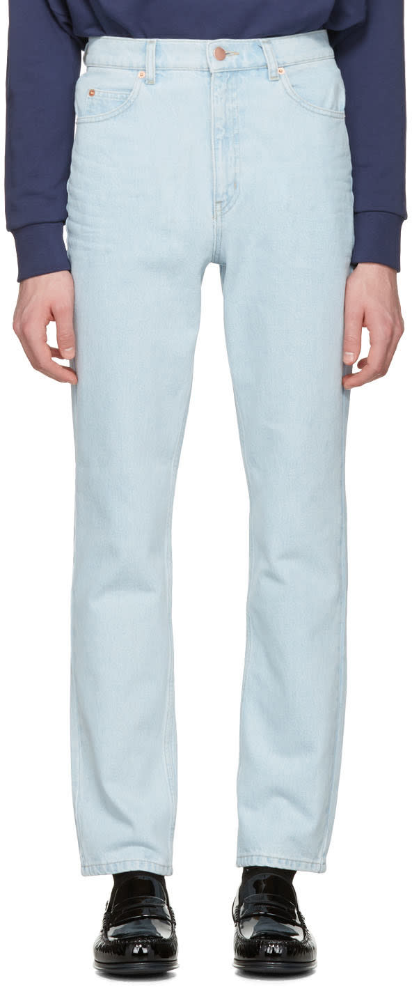 Martine Rose Blue Slim Jeans