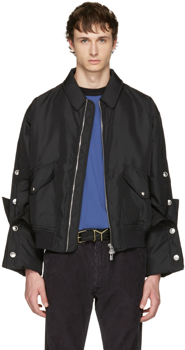 Y-project Black Cufflink Sleeves Jacket