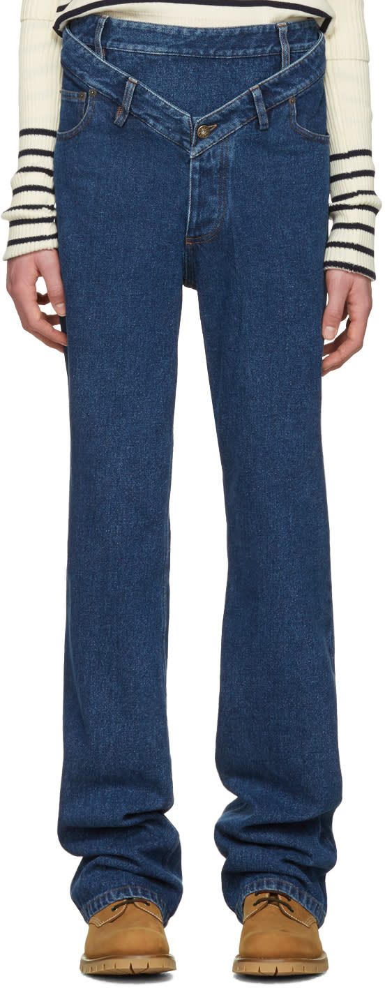 Y-project Navy Layered Jeans