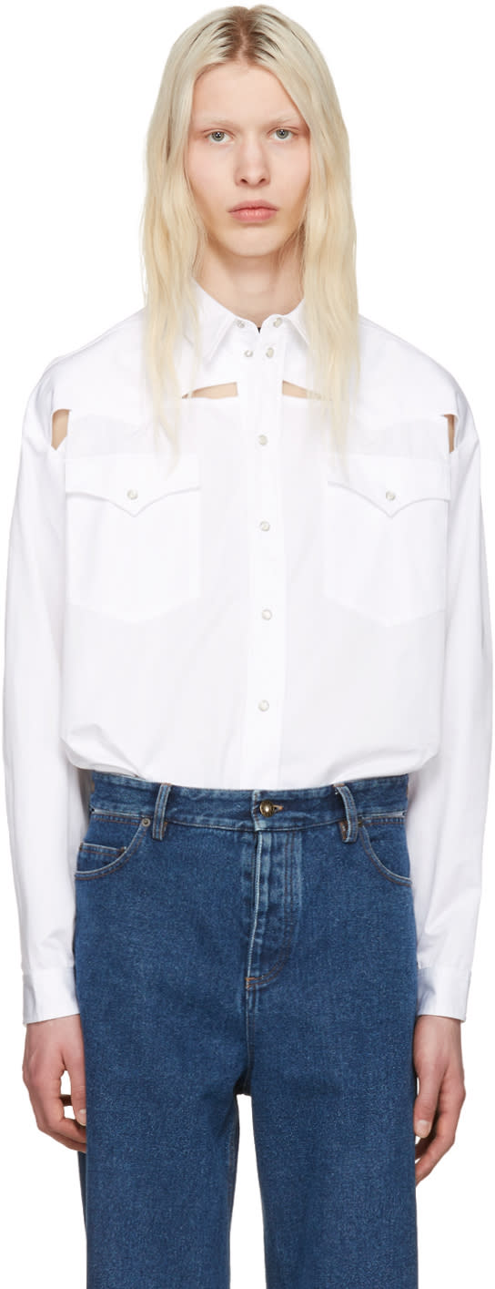 Y-project White Oversized Cut-out Shirt