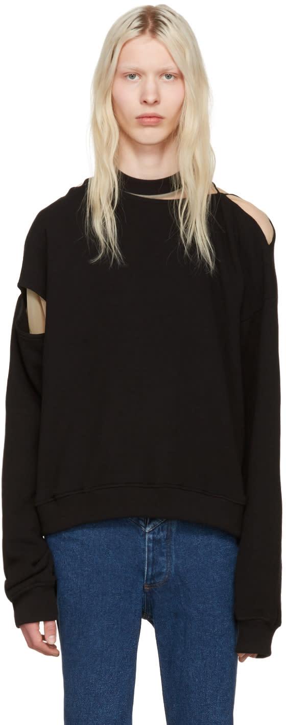 Y-project Black Slit Pullover
