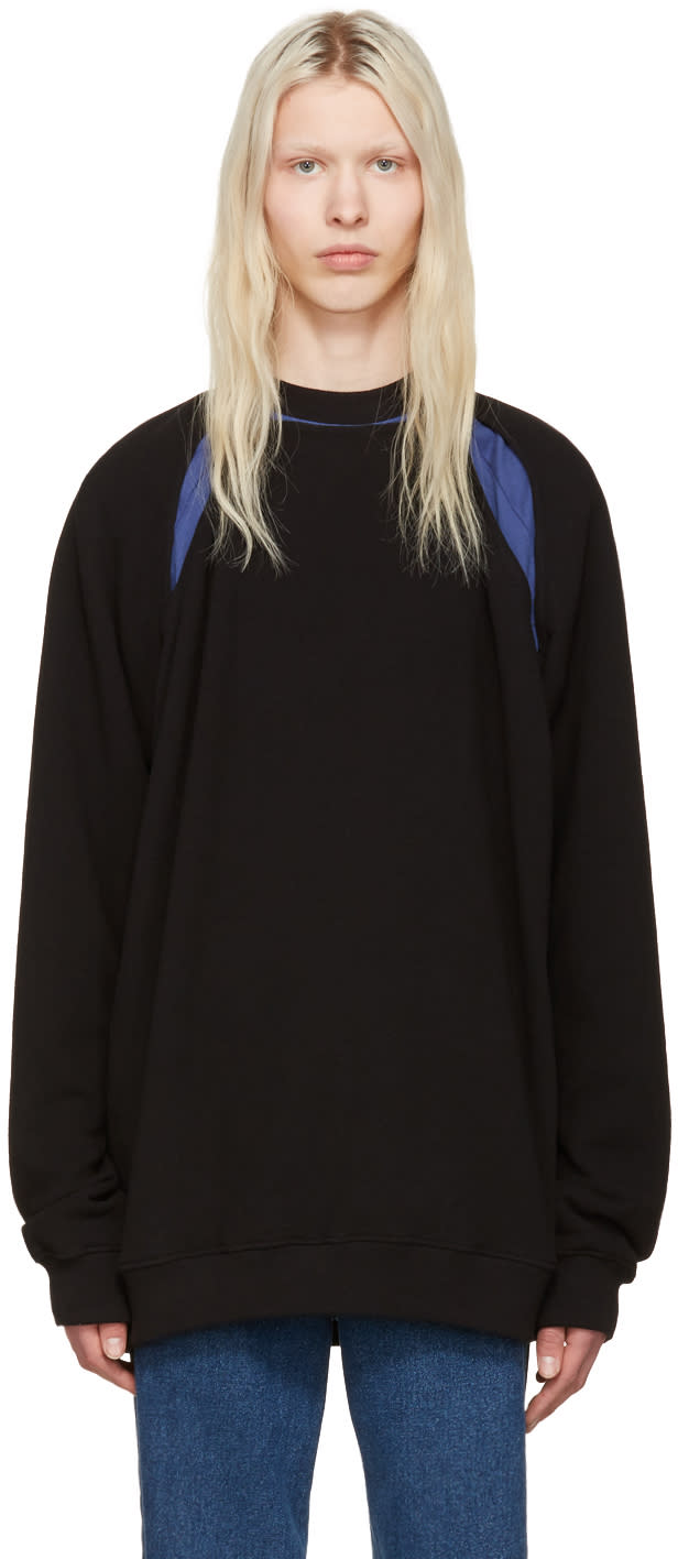 Image of Y-project Black Slit Pullover