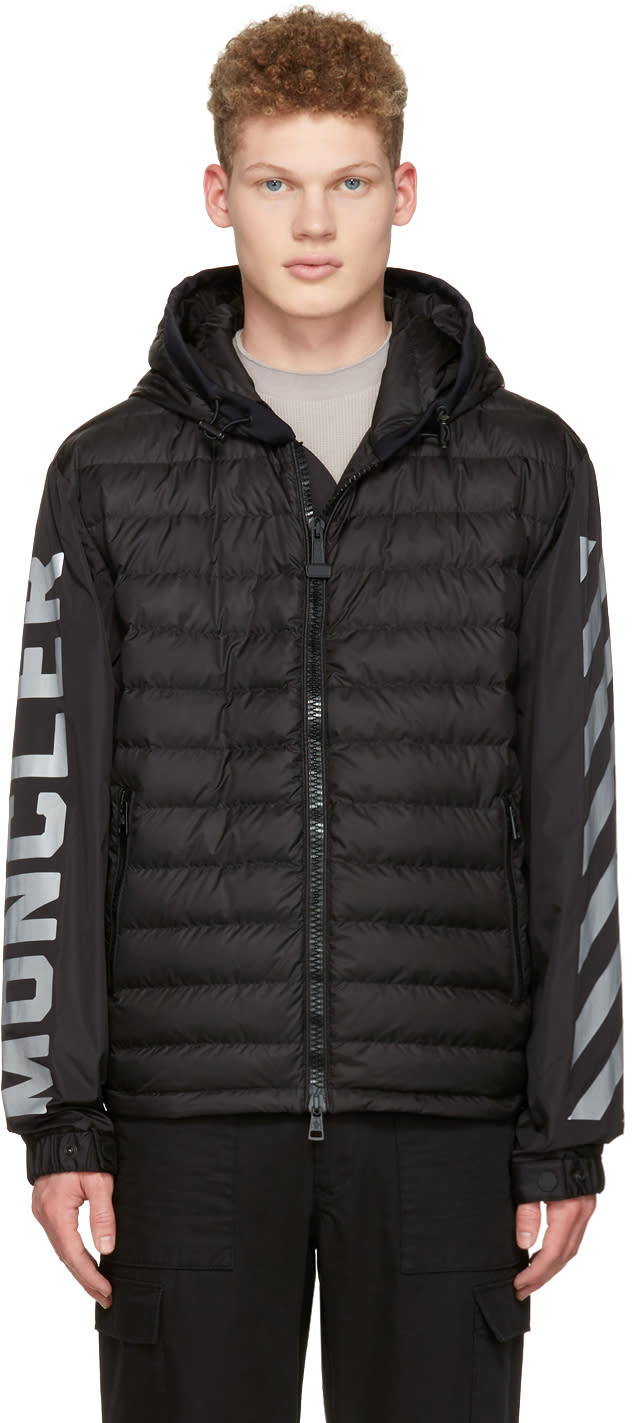 Moncler O Black Down Logo Jacket