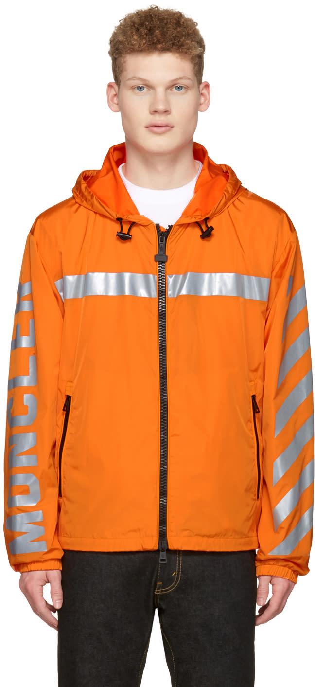 Moncler O Orange Logo Windbreaker Jacket