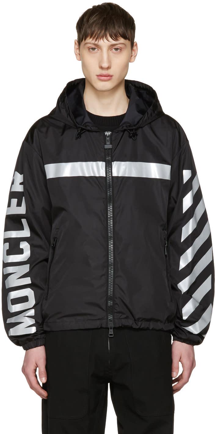 Moncler O Black Logo Windbreaker