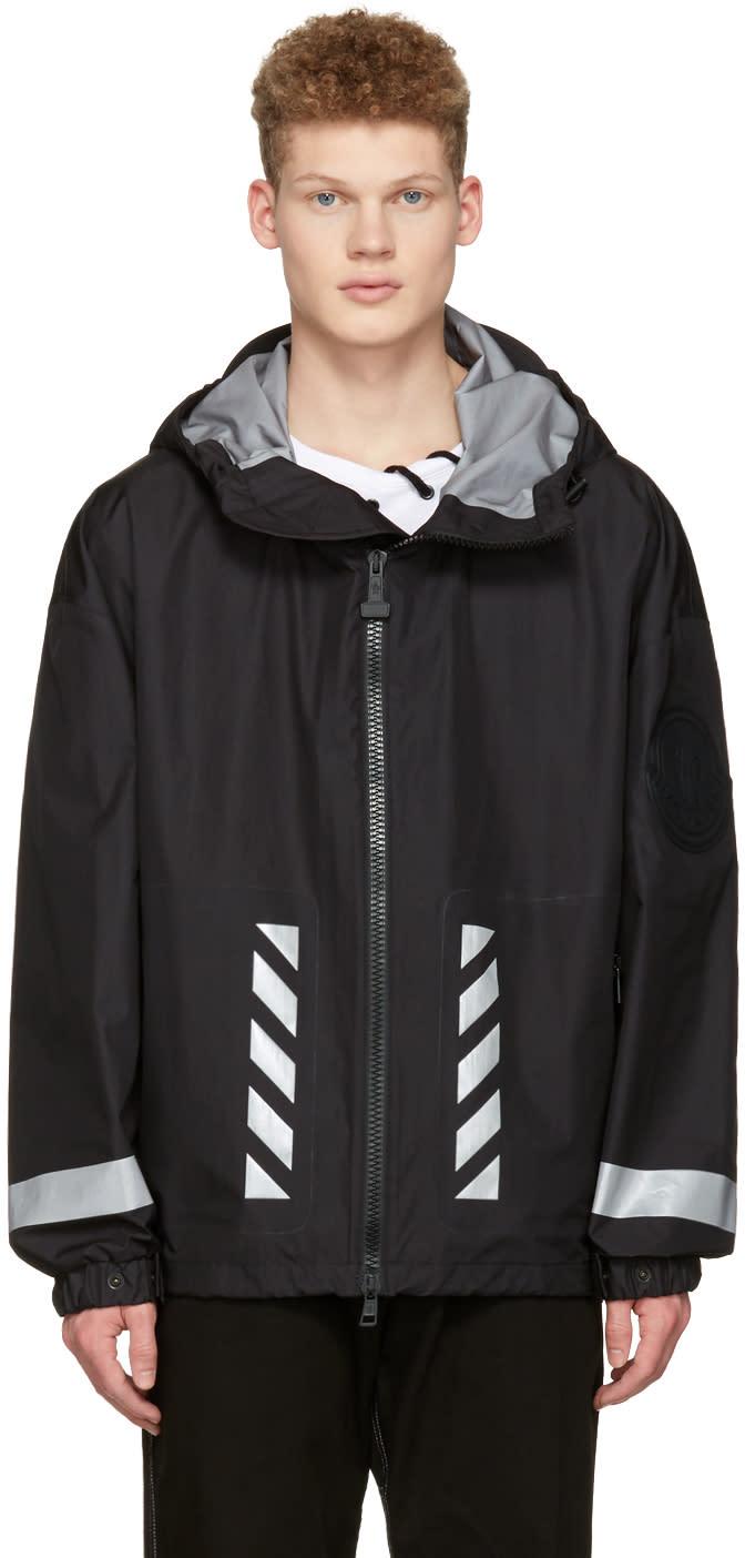Moncler O Black Logo Windbreaker Jacket