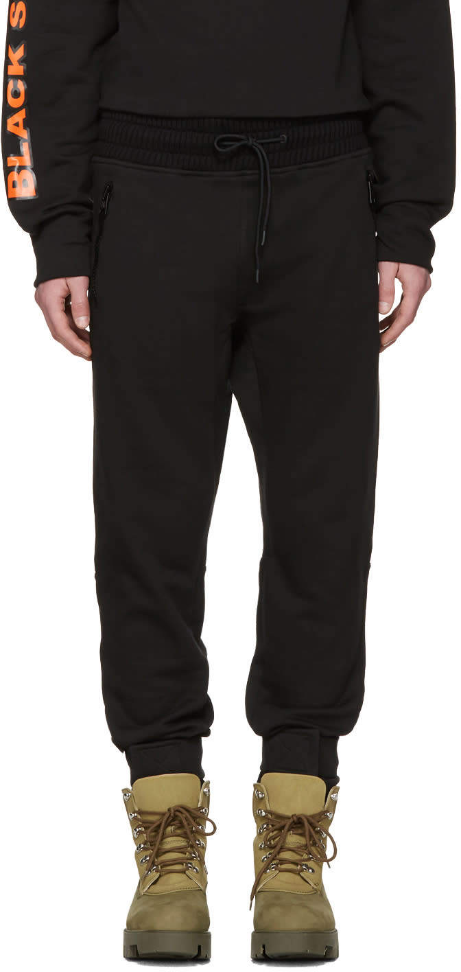 Moncler O ブラック ドローストリング ラウンジ パンツ