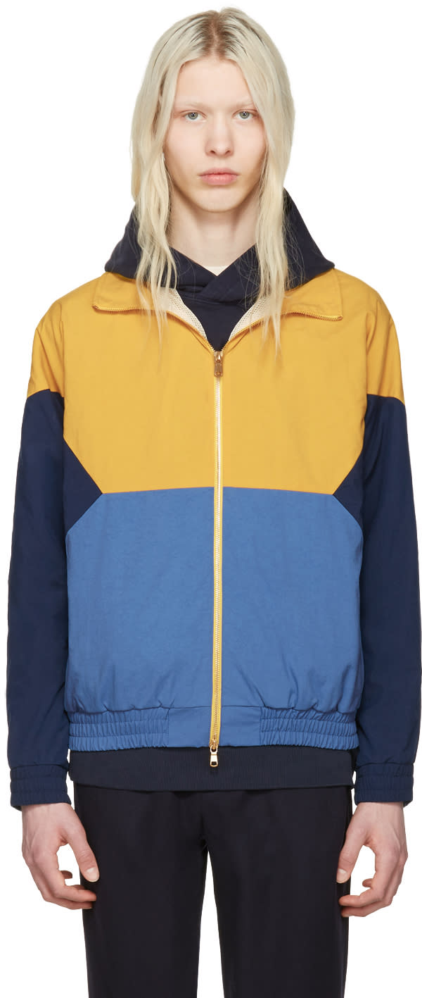 Aime Leon Dore Yellow Zip Windbreaker Jacket