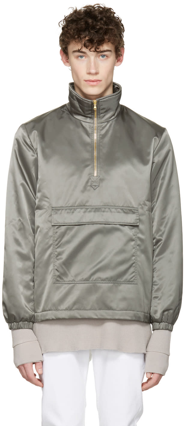 Aime Leon Dore Ssense Exclusive Grey Ma-1 Nylon Jacket