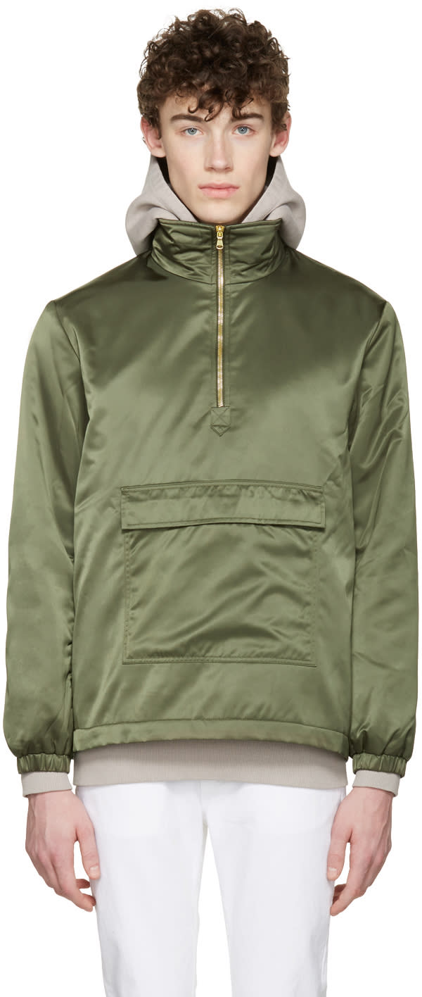 Aime Leon Dore Ssense Exclusive Green Ma-1 Nylon Jacket