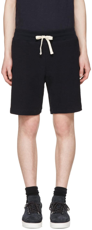Aime Leon Dore Navy Reverse Terry Shorts