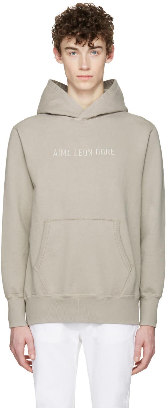 Image of Aime Leon Dore Ssense Exclusive Grey Logo Hoodie