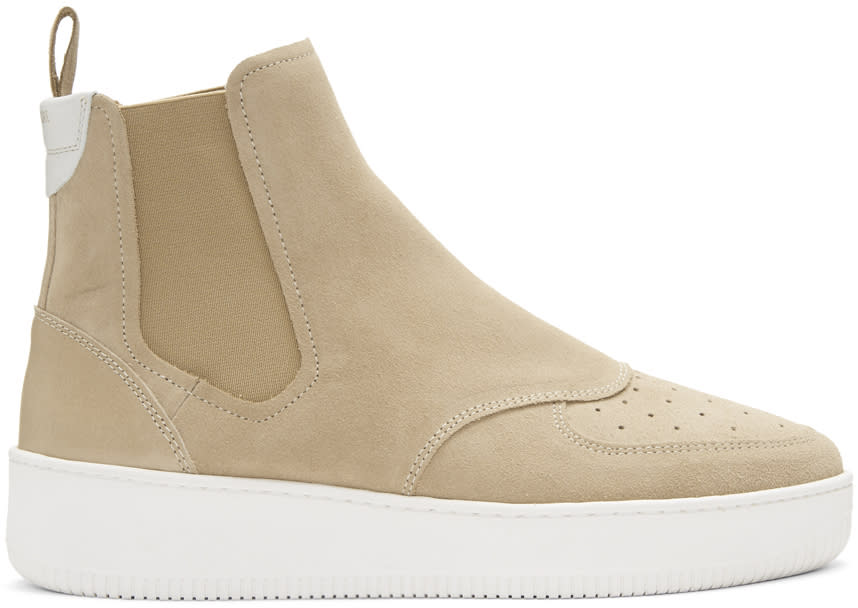 Image of Aime Leon Dore Beige Chelsea High-top Sneakers