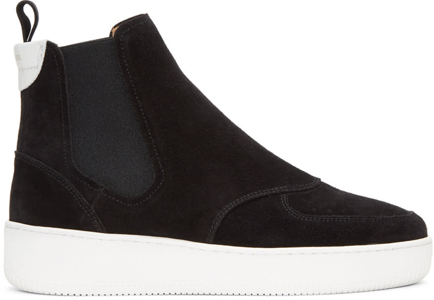 Image of Aime Leon Dore Black Chelsea High-top Sneakers