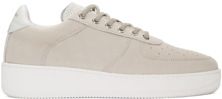 Image of Aime Leon Dore Grey Leather Sneakers