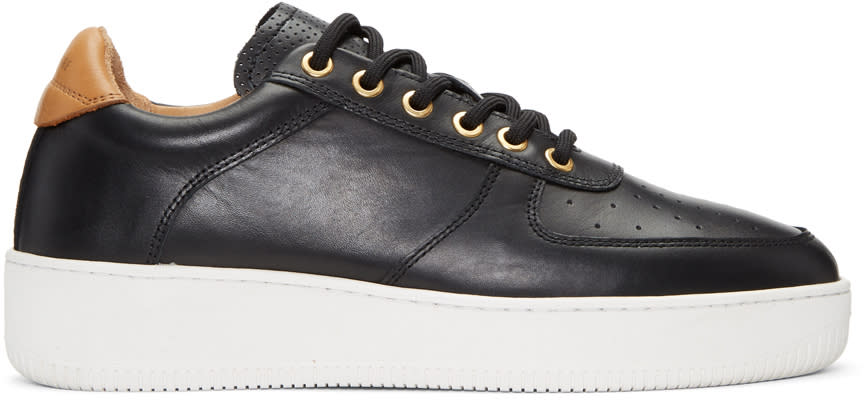Image of Aime Leon Dore Black Leather Sneakers