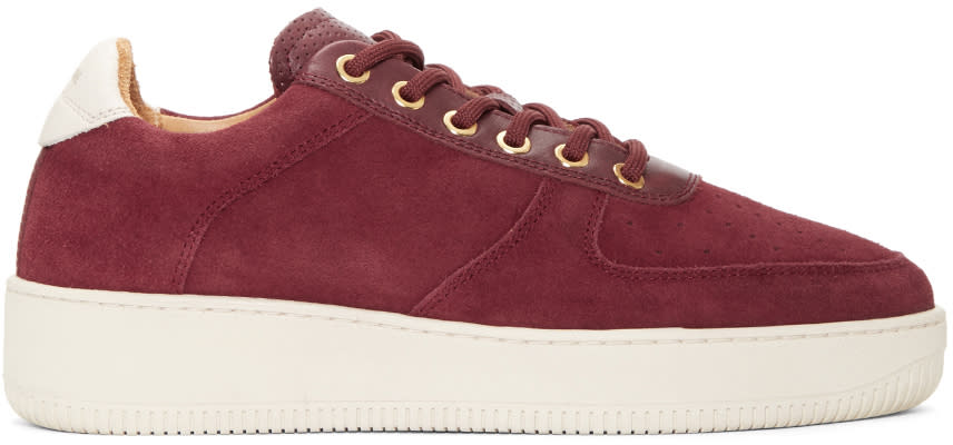Aime Leon Dore Burgundy Suede Sneakers