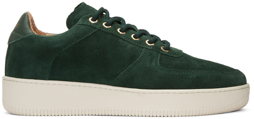 Aime Leon Dore Ssense Exclusive Green Suede Sneakers