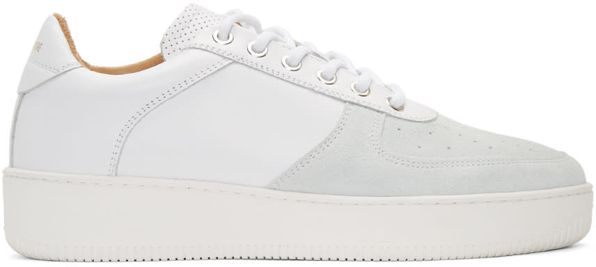 Aime Leon Dore Ssense Exclusive White Leather Sneakers