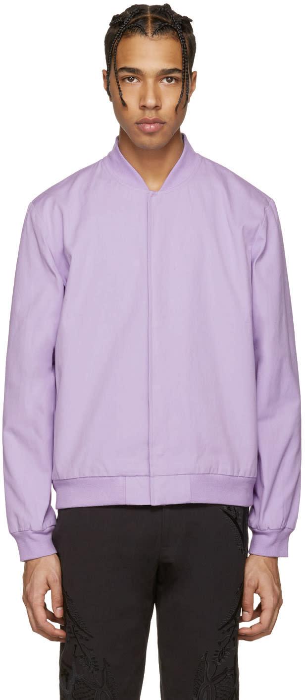 Rochambeau Purple Moroc Bomber Jacket