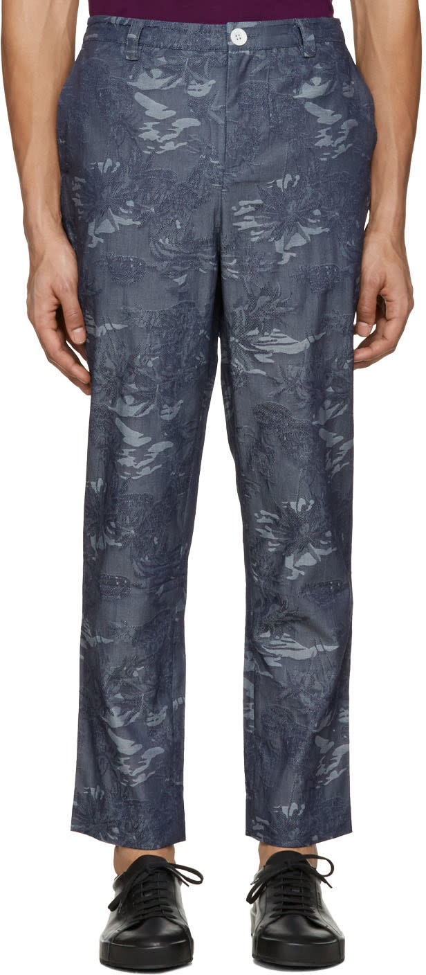 Image of Rochambeau Blue Chambray Pipe Trousers