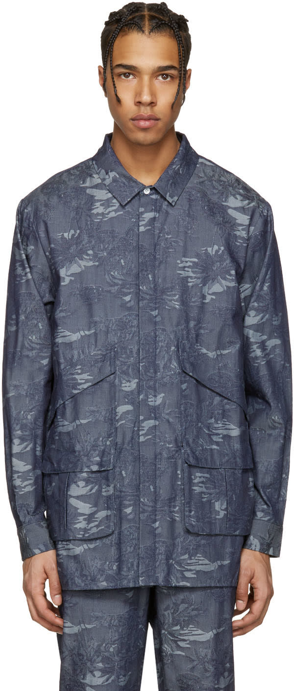 Image of Rochambeau Blue Chambray Paradise Pocket Shirt