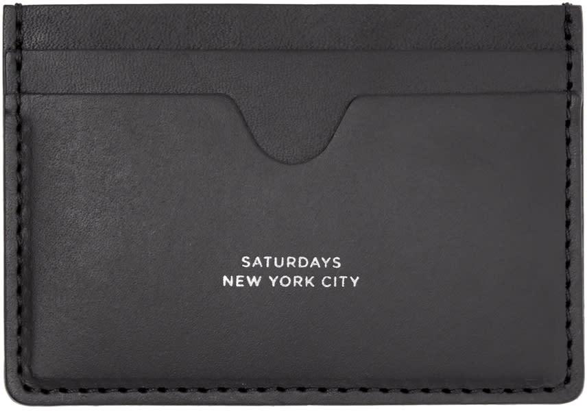 Saturdays Nyc Black Ryan Card Holder