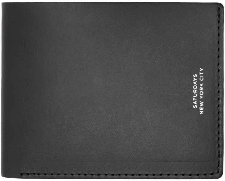 Saturdays Nyc Black Bifold Wallet