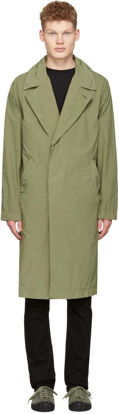 Saturdays Nyc Green Malmo Trench Coat