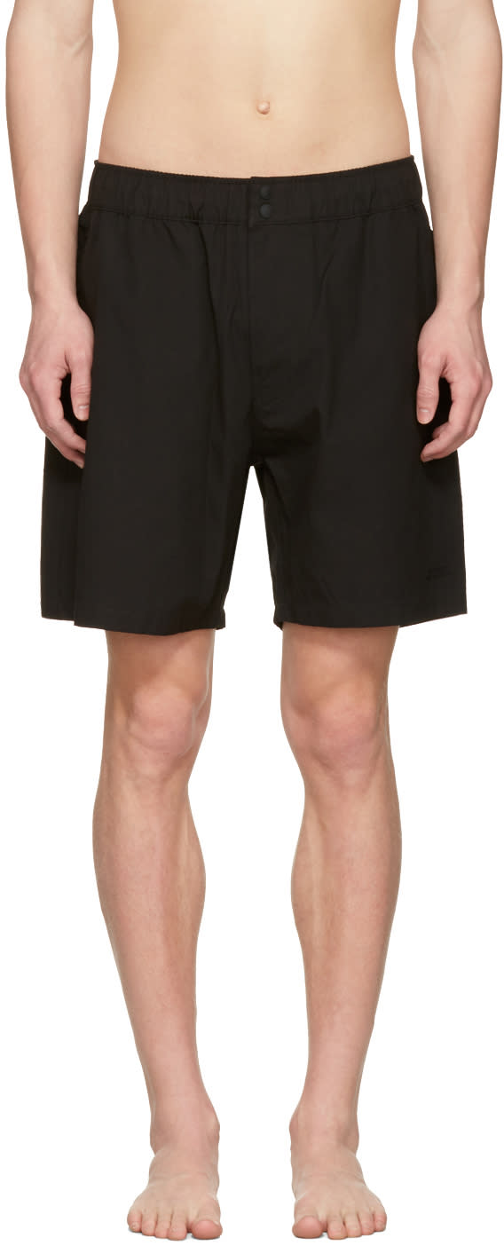 Saturdays Nyc Black Trent Swim Shorts