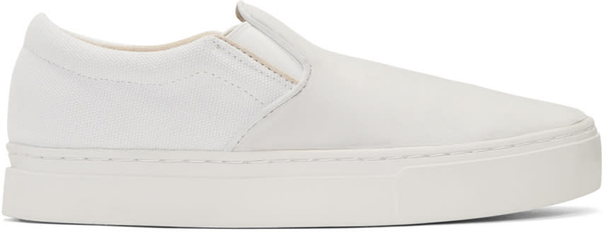 Saturdays Nyc Ivory and Grey Vass Slip-on Sneakers