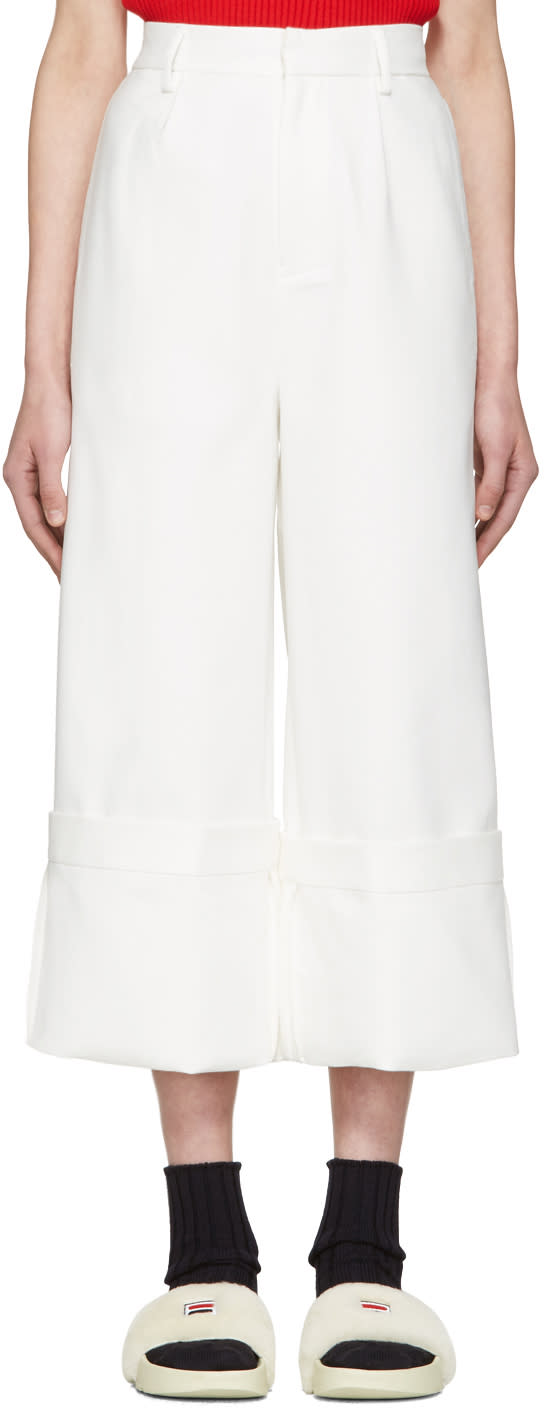 Image of Shushu-tong White Wild Ham Trousers