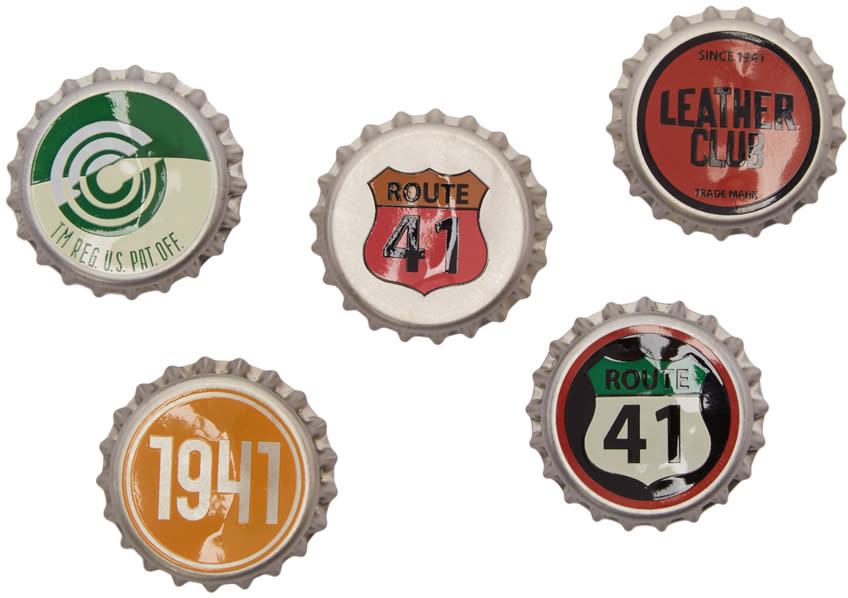 Coach 1941 Five-pack Multicolor Bottle Cap Pins