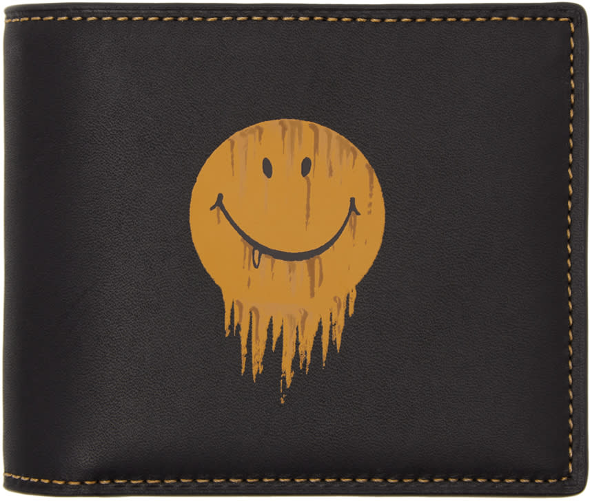 Image of Coach 1941 Black Baseman Edition Gnarly Face Three-in-one Wallet