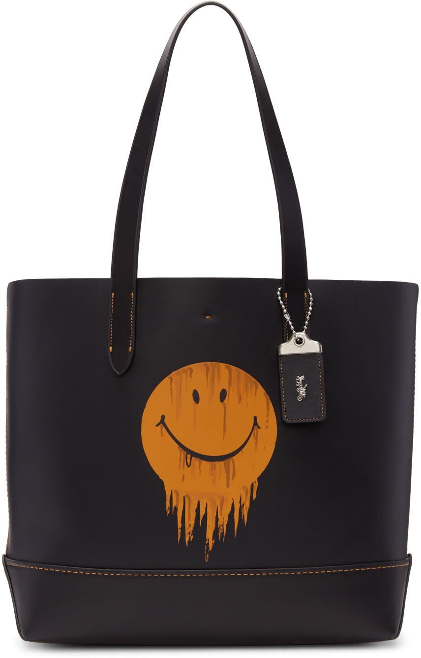 Image of Coach 1941 Black Baseman Edition Gnarly Face Gotham Tote