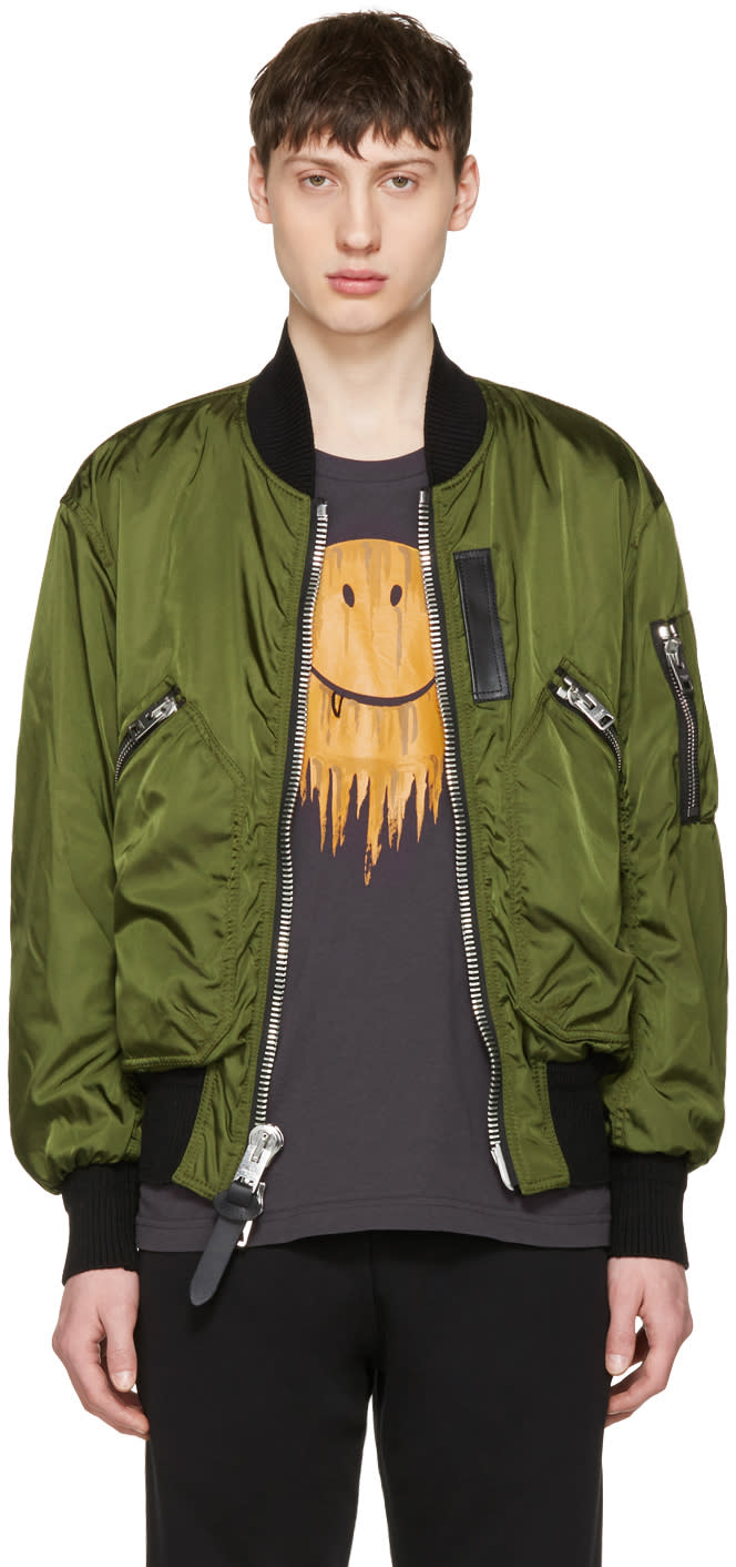 Coach 1941 Green Ma-1 Military Bomber Jacket