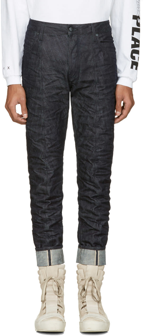Raw Research Indigo Lanc 3d Tapered Jeans