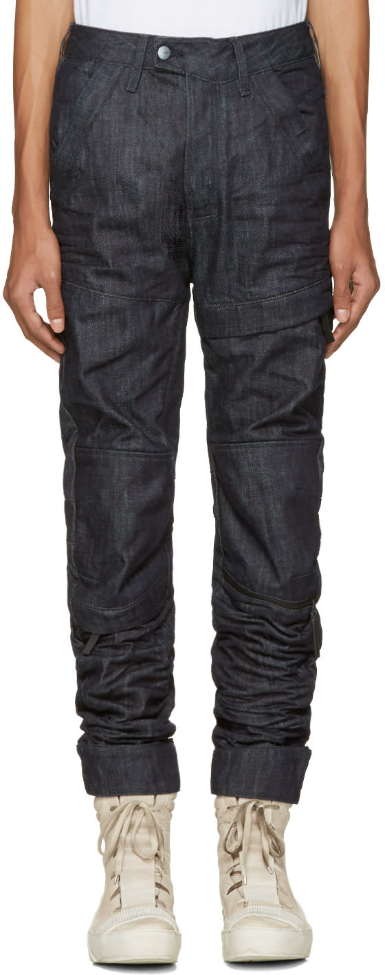 Raw Research Indigo Rackam 3d Tapered Jeans
