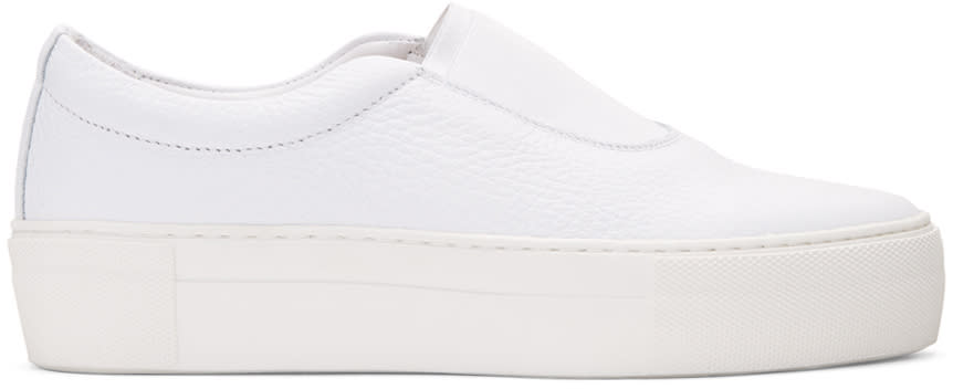 Primury White Leather Basaland Sneakers
